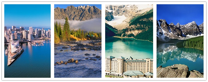 wonder travel|Vancouver, Rocky Mountain, lago Louise 6 días