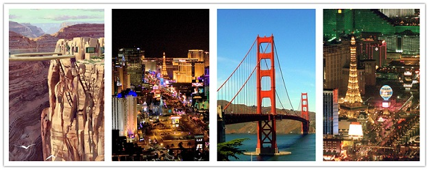 wonder travel|Las Vegas-San Francisco-Grand Canyon-Los Angeles 7 Jours $499+